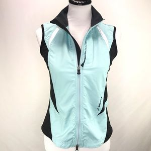 Brooks Teal Nylon Racing Vest Size Small
